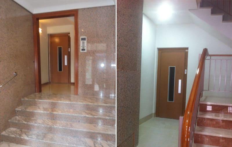 Rampa de acceso al ascensor