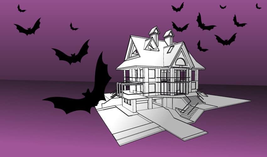 Casa ruina Halloween