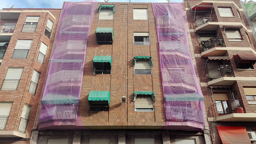 Malla reforma fachada