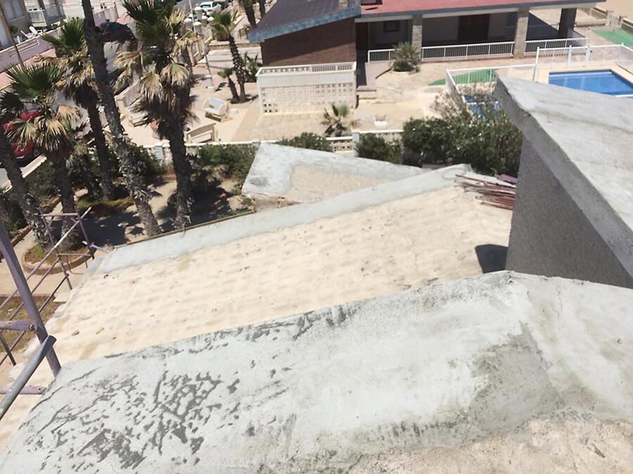 Reparación de cubierta en terraza realizada por Promissan