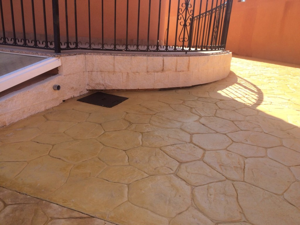 Pavimento impreso. Ideas para tu terraza
