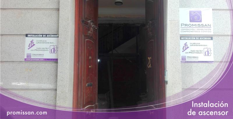 Instalación de ascensor en edificio histórico