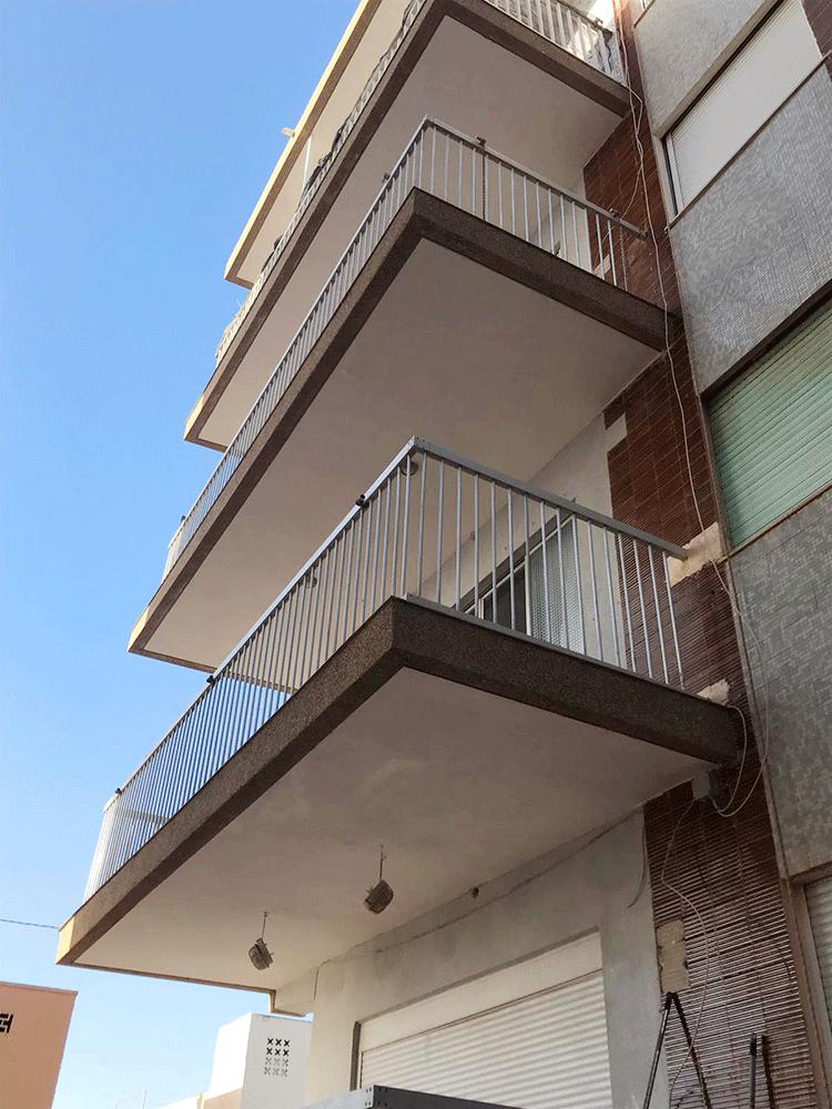 Reparación de fachada en edificio Santa Pola