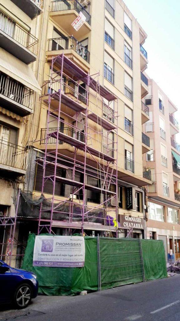 Reparación de fachada y terraza en Elche