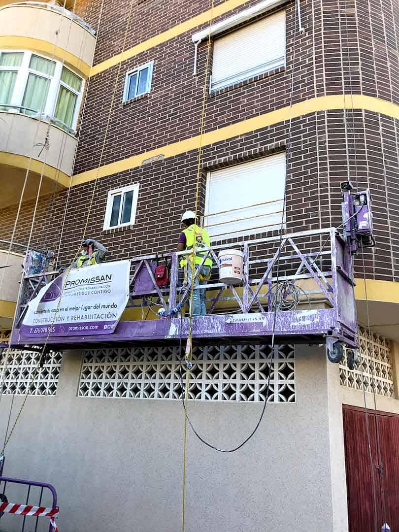 Reparación de fachada en Orihuela